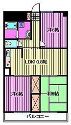 埼玉県さいたま市浦和区瀬ヶ崎3丁目の賃貸マンションの間取り