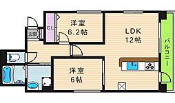 レジデンスJUKO[1階]の間取り