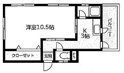田沼ハイム[3F号室]の間取り