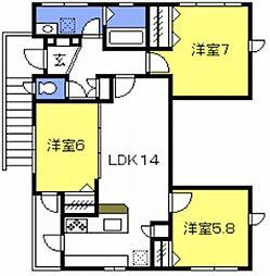 [一戸建] 埼玉県さいたま市南区曲本2丁目 の賃貸【/】の間取り