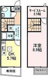 [テラスハウス] 岡山県岡山市北区横井上 の賃貸【/】の間取り