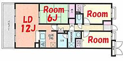 神奈川県横浜市緑区鴨居4丁目の賃貸マンションの間取り