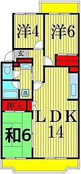 東京都足立区西新井本町5丁目の賃貸マンションの間取り