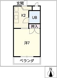 プチメゾン山田[1階]の間取り
