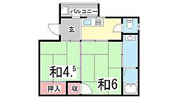 仲野ハイツ[2階]の間取り
