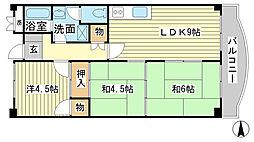 ヤナギマンション[203号室]の間取り