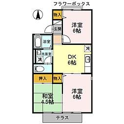 プリシェールK I棟[2階]の間取り