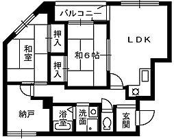 メゾンプラヴァ[2階]の間取り