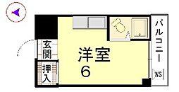 カーサ船岡山[302号室]の間取り
