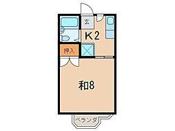 0505コスモスハウス[102号室]の間取り
