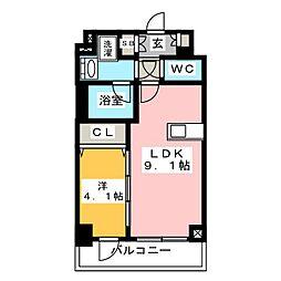 ディームス東陽町II 6階1LDKの間取り