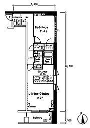 ルフォンプログレ南麻布[2階]の間取り