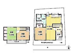 [一戸建] 神奈川県藤沢市藤沢 の賃貸【/】の間取り