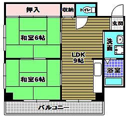 金剛東マンション[3階]の間取り