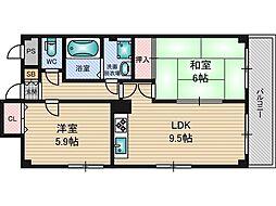 シャトレー新大阪[2階]の間取り