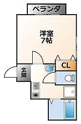シャトー甲子園[2階]の間取り