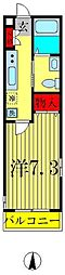 ヒューマンパレス南流山V A棟[2階]の間取り