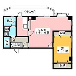 ホワイトクラウドIV[4階]の間取り