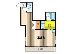ユーコート浦和常盤[5階]の間取り