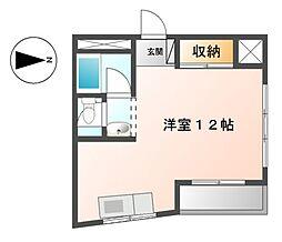 ラッフル徳川[2階]の間取り