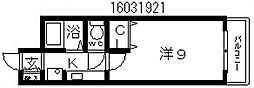 シーダー針中野[4階]の間取り