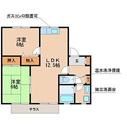 セジュール松泉C棟[1階]の間取り