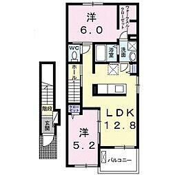 メゾン ドゥ シュシュA[2階]の間取り
