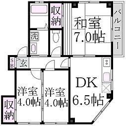 メゾン桜井[3階]の間取り