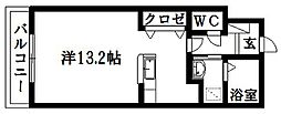 静岡県浜松市南区安松町の賃貸マンションの間取り