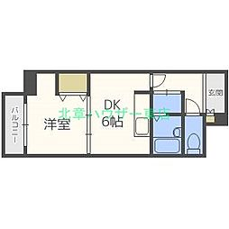 北海道札幌市東区北二十六条東1丁目の賃貸マンションの間取り