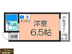 大阪府堺市堺区材木町西1丁の賃貸マンションの間取り