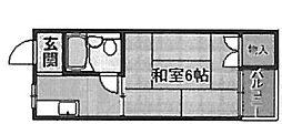 サンライズ一条(大仙小学校区)[3階]の間取り