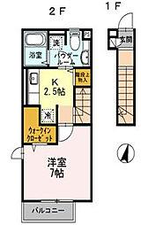 エスポワール鵠沼[2階]の間取り