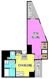 東京都練馬区富士見台2丁目の賃貸マンションの間取り