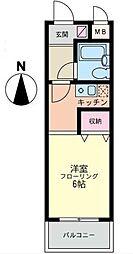 神奈川県横浜市磯子区杉田5の賃貸マンションの間取り