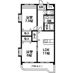 NNMマンションA[302号室]の間取り