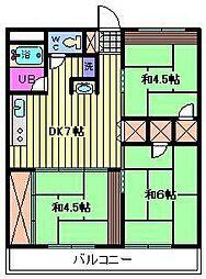 並木フラッツB[2階]の間取り