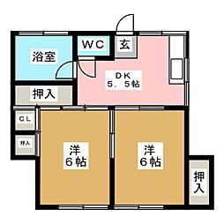 石川荘[1階]の間取り
