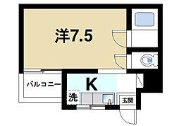 奈良県奈良市中辻町の賃貸マンションの間取り