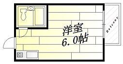 レナジア摂津[2階]の間取り