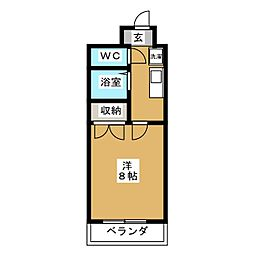 第8パールハイツ安井[4階]の間取り