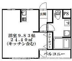 大阪府枚方市西禁野1丁目の賃貸マンションの間取り