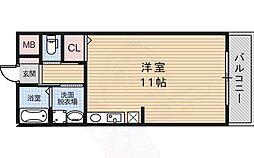 ラ・メゾン セハヤ 1階ワンルームの間取り