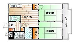 クレベール片野[2階]の間取り