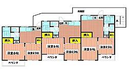 大倉山グリーンハイツ[401号室]の間取り