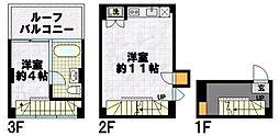 是空HORIKAWA 1階1LDKの間取り