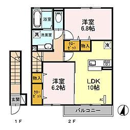 (仮)D‐room桜区南元宿2丁目 I[202号室]の間取り
