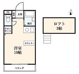 佐賀県佐賀市水ヶ江2丁目の賃貸アパートの間取り