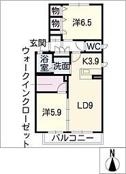 アニマルワン B棟[1階]の間取り