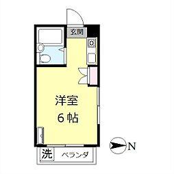 グランビュー[305号室]の間取り